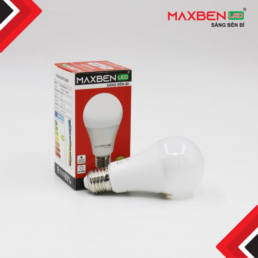 Đèn Bulb Led Tròn Maxben 12W