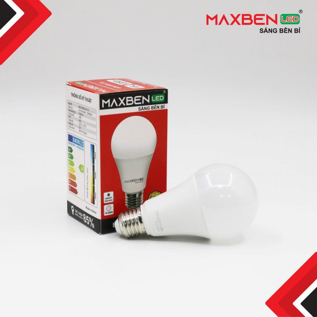 Đèn Bulb Led Tròn Maxben 15W