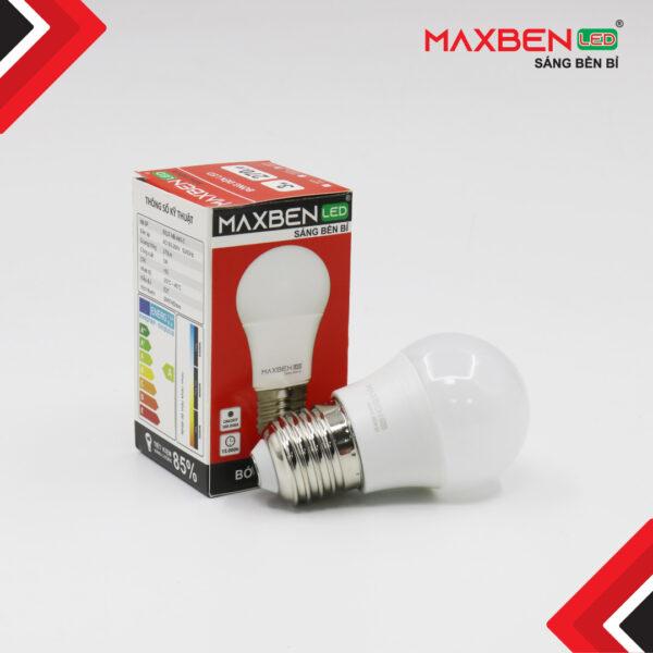 Đèn Bulb Led Tròn Maxben 3W