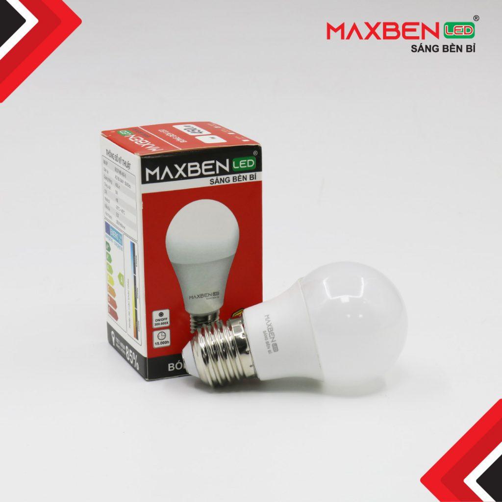 Đèn Bulb Led Tròn Maxben 7W